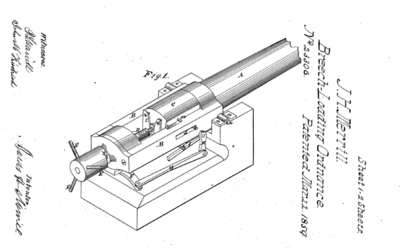 23,306 - Improvement in Breech-Loading Cannon (JAS. H. MERRILL, OF BALTIMORE, MARYLAND; March 22, 1859)
