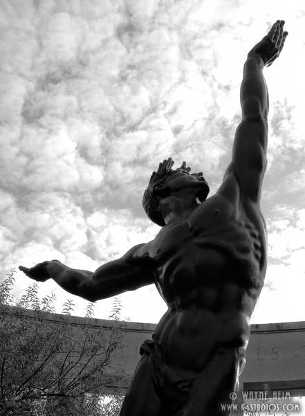 WW II Monument  4  Black and White Photography by Wayne Heim