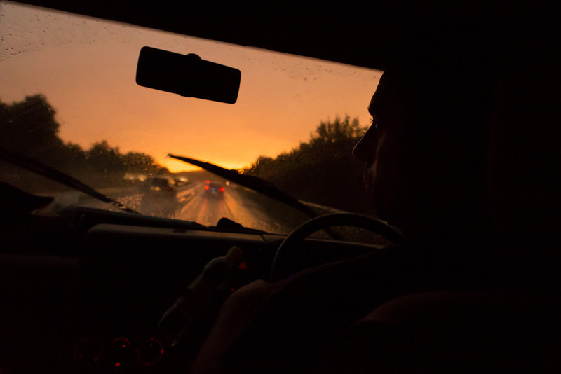 Freaky light conditions on the road in Germany (this wasn't sunset)