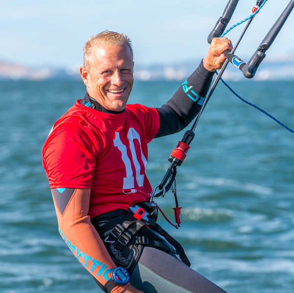 Chip Wasson Foiling Kiteboard Racing on San Francisco Bay