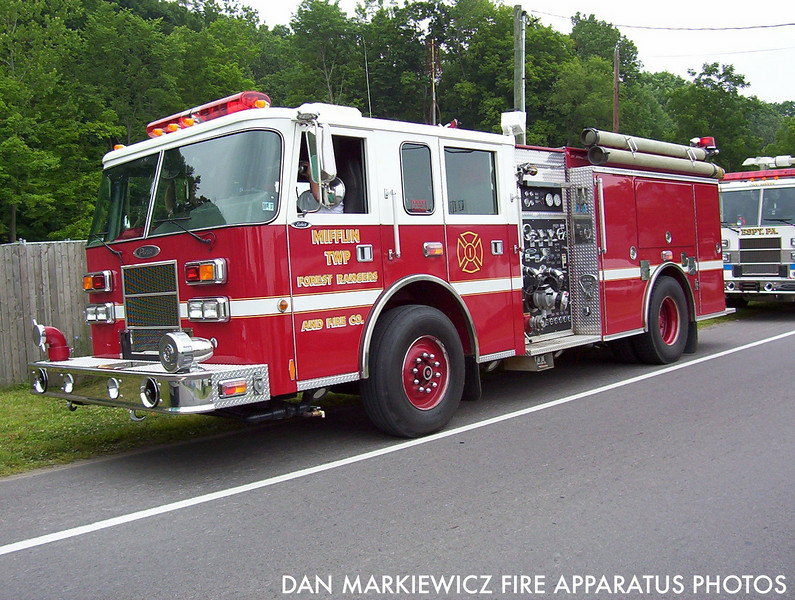 MIFFLIN TWP. FOREST RANGERS & FIRE CO. FORMER ENGINE 222 1999 PIERCE PUMPER