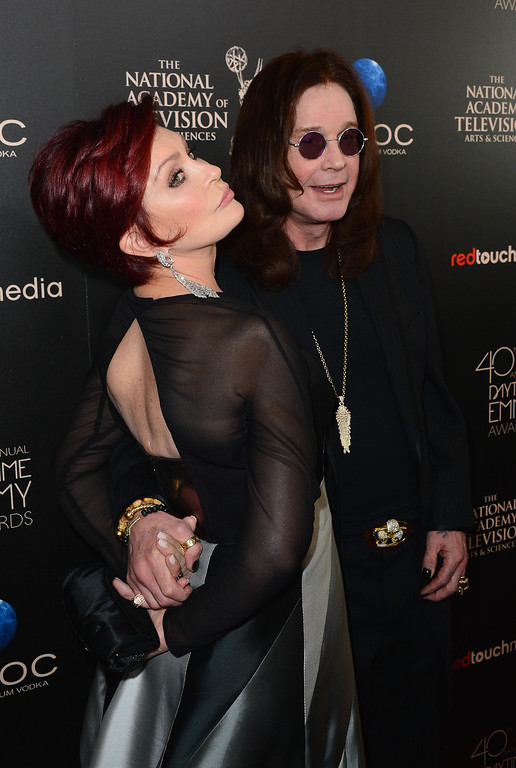 . (L-R) TV personality Sharon Osbourne and musician Ozzy Osbourne attend The 40th Annual Daytime Emmy Awards at The Beverly Hilton Hotel on June 16, 2013 in Beverly Hills, California.  (Photo by Mark Davis/Getty Images)