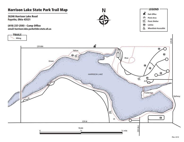 Harrison Lake State Park (Trail Map)