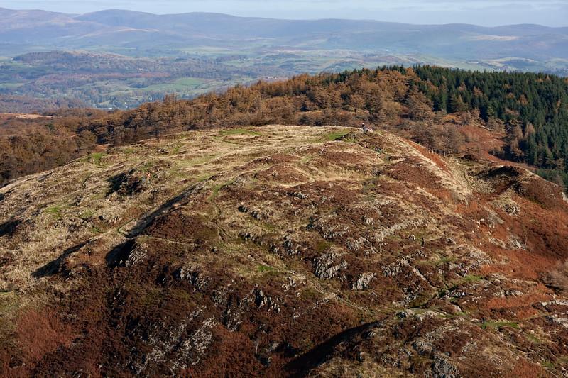 Cumbrian Fells from the Balloon
