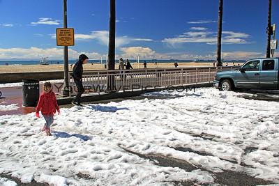 'Snow' or 'Hail' in Huntington Beach 3/2/15