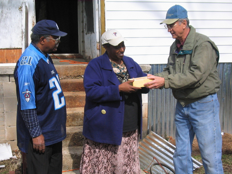 Millard presents Greater Blessings Box to Joann Hamm.JPG