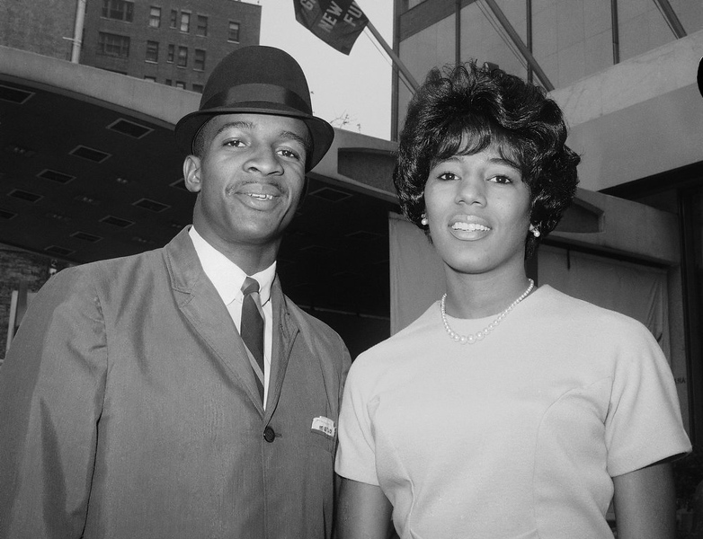 . James A. Hood and Vivian J. Malone of Alabama pose in New York. Alabama Gov. George Wallace said he would personally bar them from registering at the University of Alabama despite a restraining order. Hood, one of the first black students at the University of Alabama, has died. He was 70. Officials at Adams-Buggs Funeral Home in Gadsden said they are handling arrangements for Hood, who died Thursday, Jan. 17, 2013. Details concerning Hoodís funeral are not complete, funeral home officials said.  (AP Photo/John Lindsay, File)