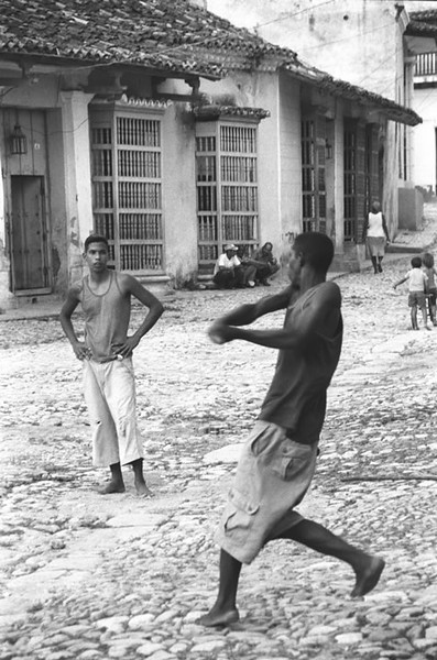 Men Playing Baseball - Trinidad, Cuba