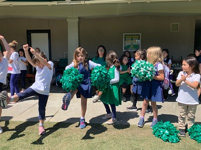 K-2 Cheer Team Performs for Costa Rica Soccer Match