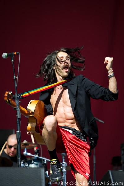 "Eugene Hütz of Gogol Bordello performs on November 12, 2011 during ""Orlando Calling 2011"" at The Citrus Bowl in Orlando, Florida"