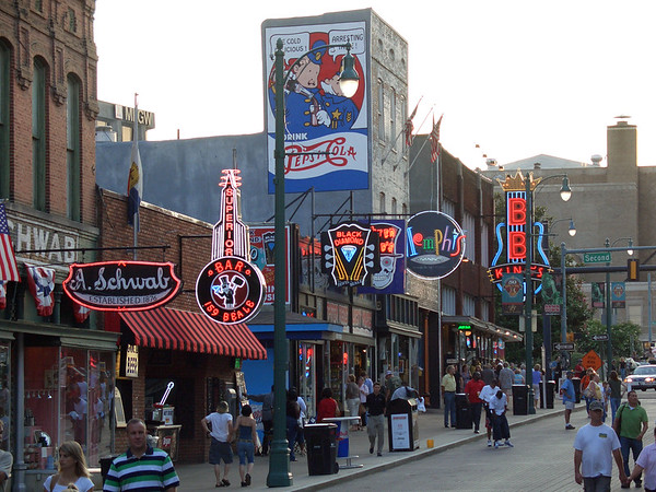 Memphis and Beale St., July 2006