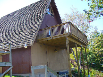 Painting the Chalet:  October 2007