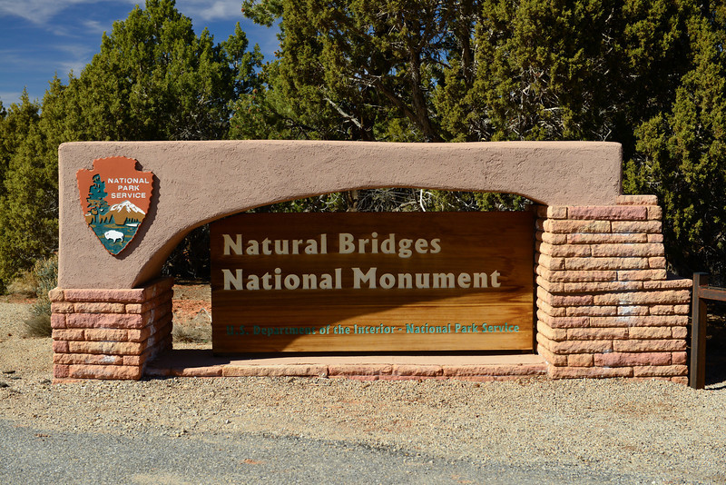 Entrance to Natural Bridges National Monument