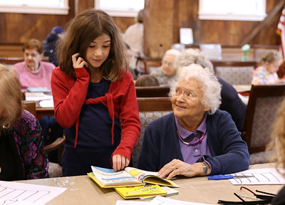 Reading to BPI residents. 030420