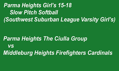 180706 Parma Heights Girl's 15-18 Slow Pitch Softball Game 1