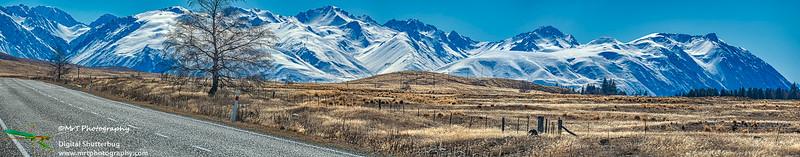 The road to Tekapo McKenzie Country