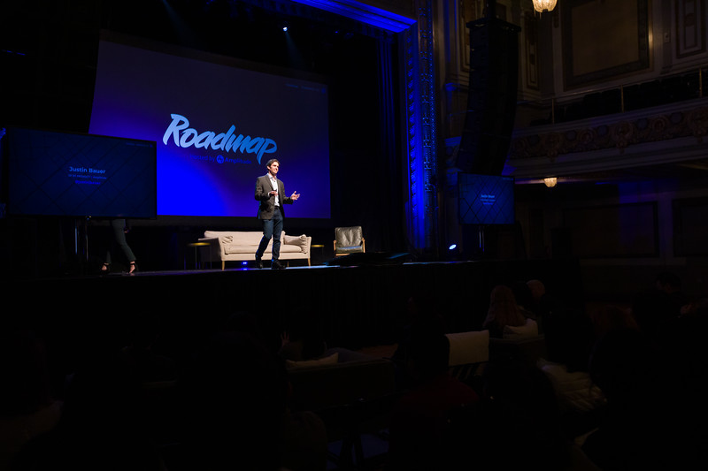 RoadMap SF Amplitude @Amplitude_HQ #roadmap @JustinJbauer Vp of Product Amplitude Justin Bauer Show Sponsors @womenpm @Optimizely & @segment