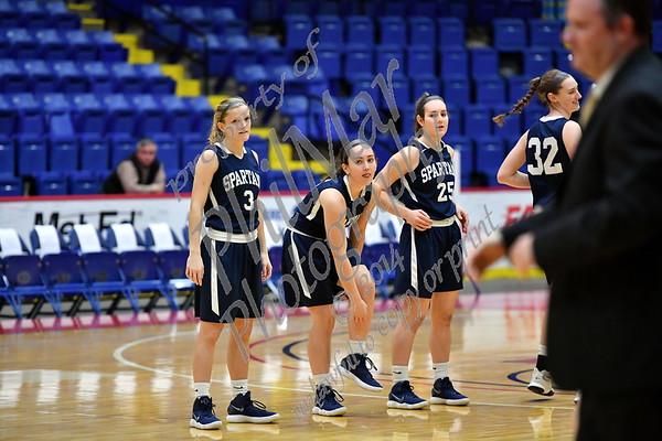 Wyomissing vs Berks Catholic Girls Basketball Semi-finals 2017 - 2018