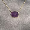 'Push Along' Purple Glass Pendant, by Seal & Scribe 25