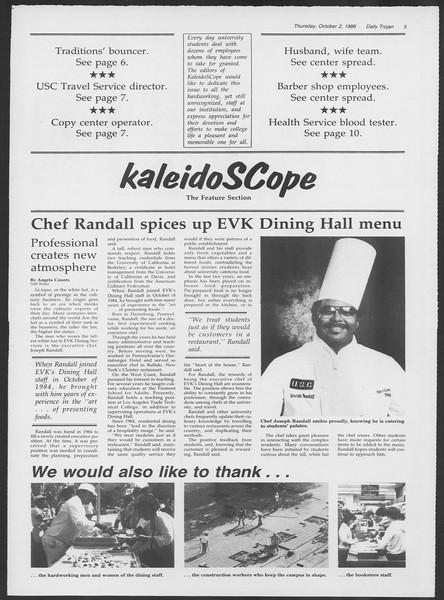 Daily Trojan, Vol. 102, No. 23, October 02, 1986
