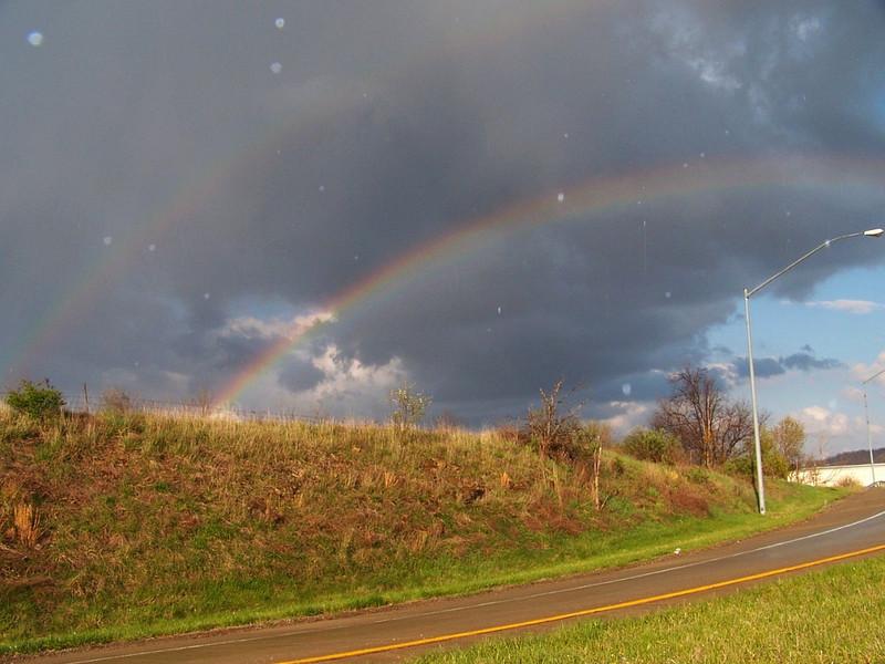 Rainbow in Greene Co PA 4-21-09