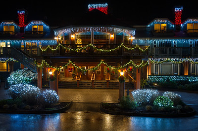 Cannon Beach in Lights