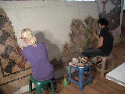 UAlbany Art History Students Restore Ancient Roman Mosaic