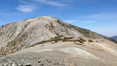 Mount Harwood 9,552 feet, San Gabriel Mountains