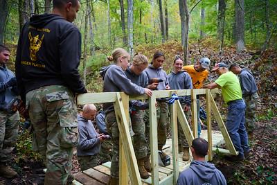 2021 UWL ROTC ORA Trail Bridge Building