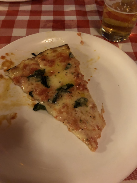 """first """"real"""" pizza on Sunday night - at """"Margherita Restaurant"""" near the hotel. Notice the amount of cheese!"""