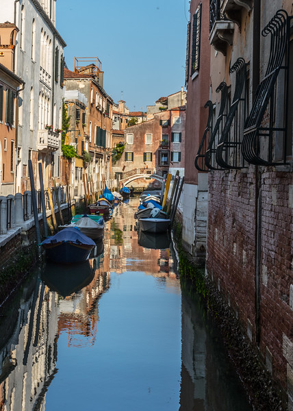 Reflected boats in a Venice Canal-3378.jpg