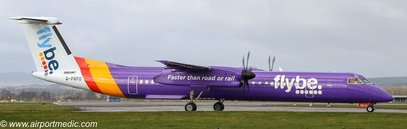 G-PRPD DHC8-Q400 flybe @ Glasgow Airport (EGPF)