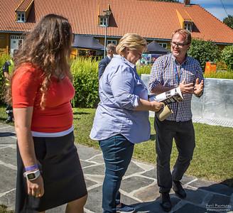 2017-07-01 Blaker Skanse - Erna Solberg