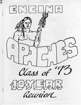 Encina Class of 1973: 10 year reunion book