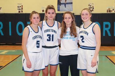 Yorktown Girls Basketball Senior Night (11 Feb 2020)