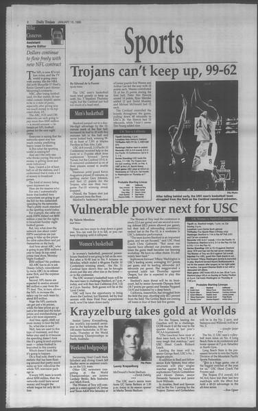 Daily Trojan, Vol. 133, No. 7, January 16, 1998