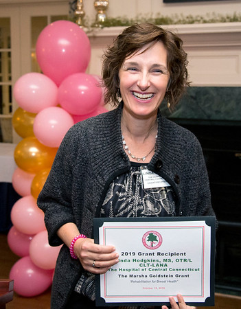 10/10/19 Wesley Bunnell | StaffrrThe CT Breast Health Initiative held their award dinner at Shuttle Meadow Country Club to honor their donors. Linda Hodgkins MS ORT/L , CT-LANA from the Hospital of Central Connecticut received the Marsha Goldstein Grant.