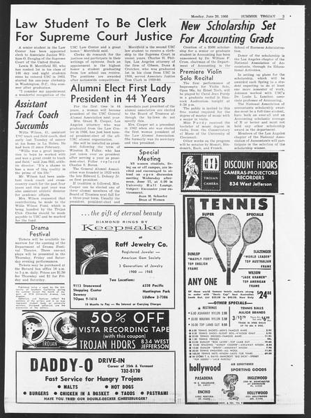 Summer Trojan, Vol. 17, No. 1, June 20, 1966