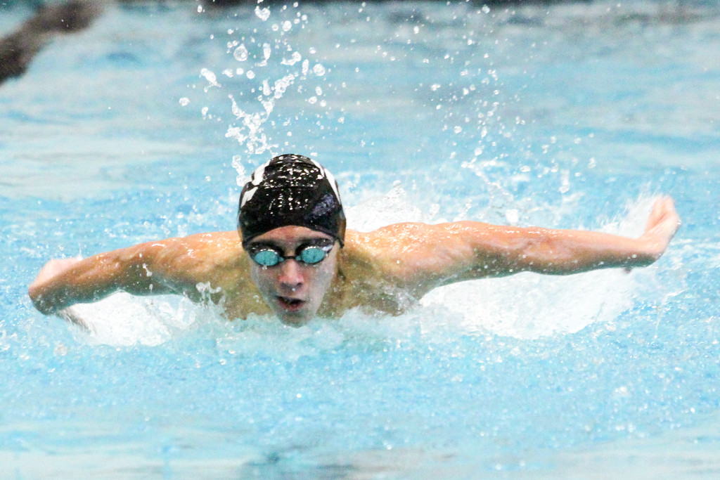 . Barry Booher - The News-Herald Kyle Silver ( Riverside ) 100 yard butterfly.