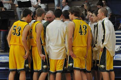 Boys Varsity Basketball at Van Meter 2009