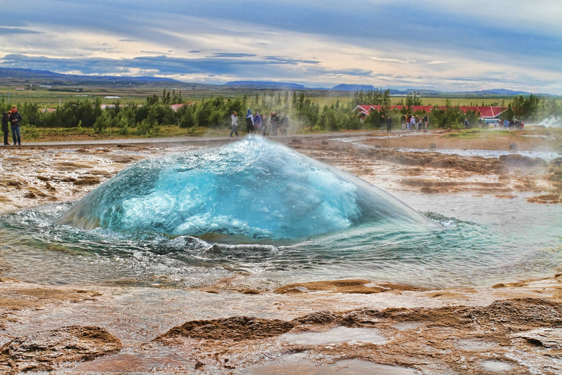 Strokkur in the geyser area. You wait for the blue bubble and it goes off.