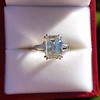 3.76ctw Emerald Cut Diamond Ring, by Leon Mege GIA H VS 13
