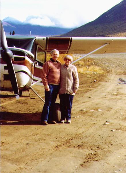 Wayne & Bonnie at Landing Strip by Clark Lake, AK .jpg