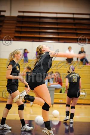Marshfield vs N. Eugene - Varsity Volleyball - Oct 1, 2009