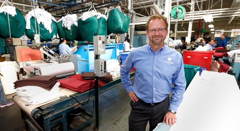 Douglas Waldman, President of Superior Linen Services in Tulsa.