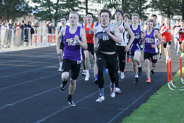 BHRV girls' and boys' track at Siouxland Conference meet in Sheldon 5-2-19