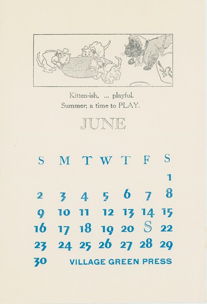 June, 1975, Village Green