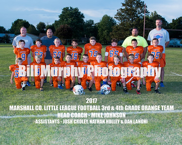 2017 3rd & 4th Grade Orange Team, Marshall Co. Little League Football