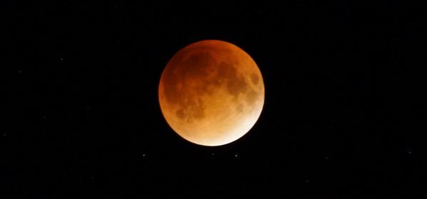 Blood Moon eclipse night, Head Harbour Lightstation