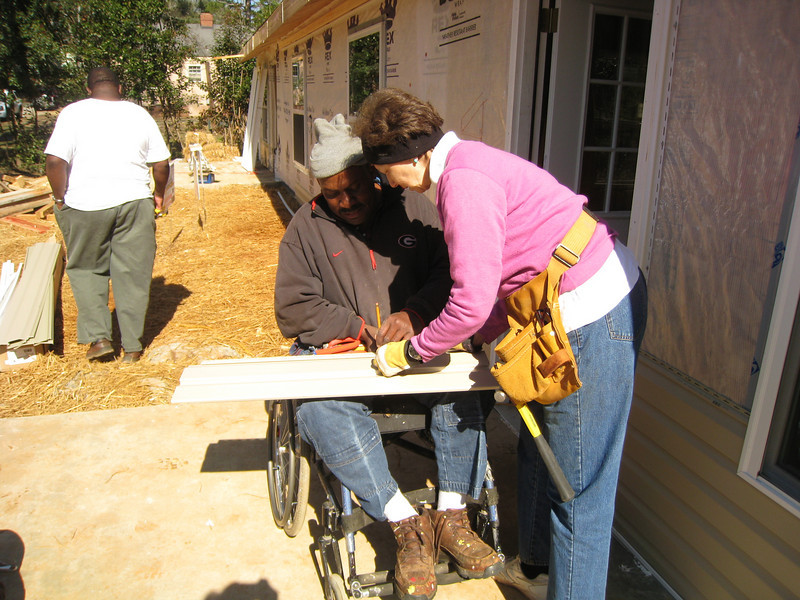 10 02-03  Linda Fuller working with Thad Harris.  ff